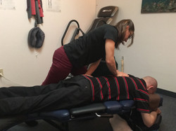 Dr. Kelly Chiropractic Adjustment on the low back