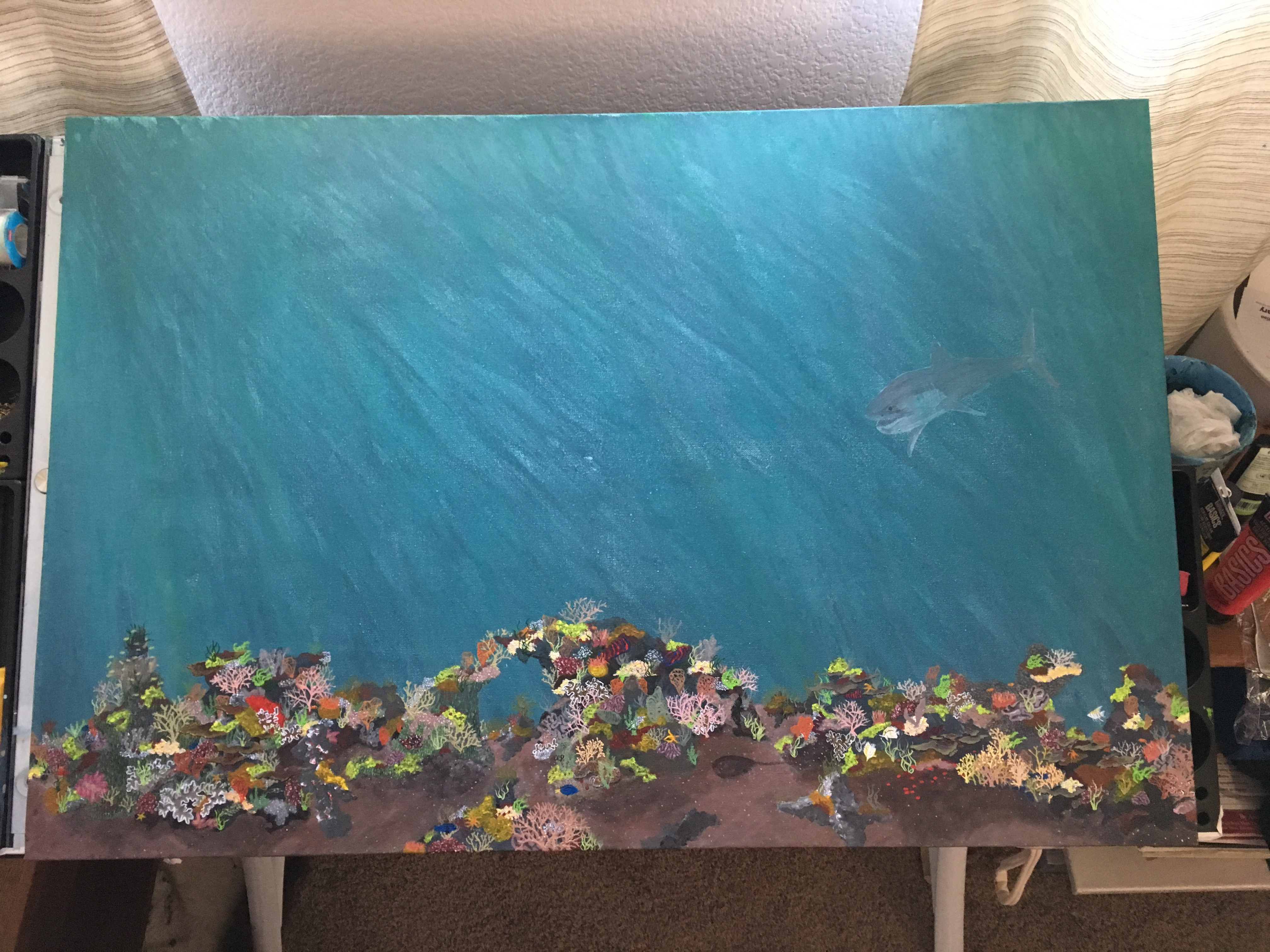 Closer to being done with the coral