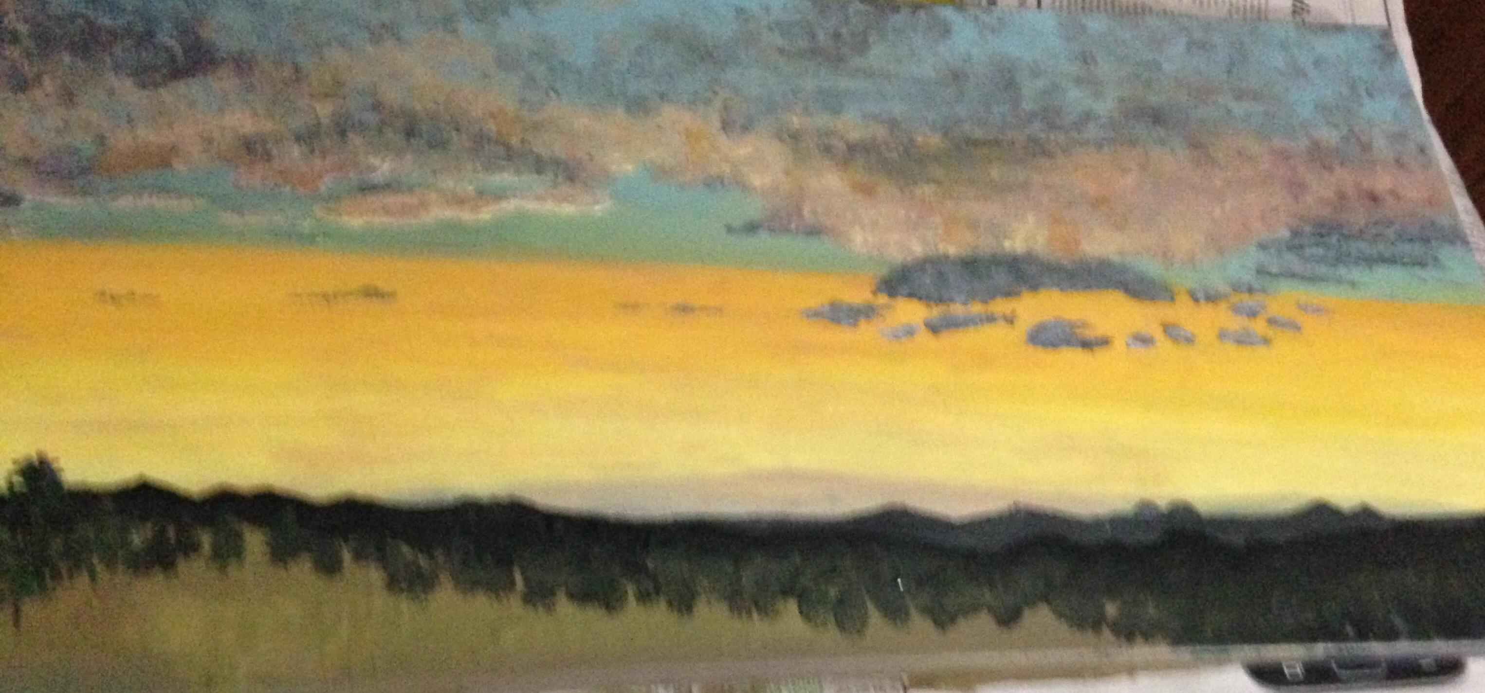 Sun rise over the Sierras