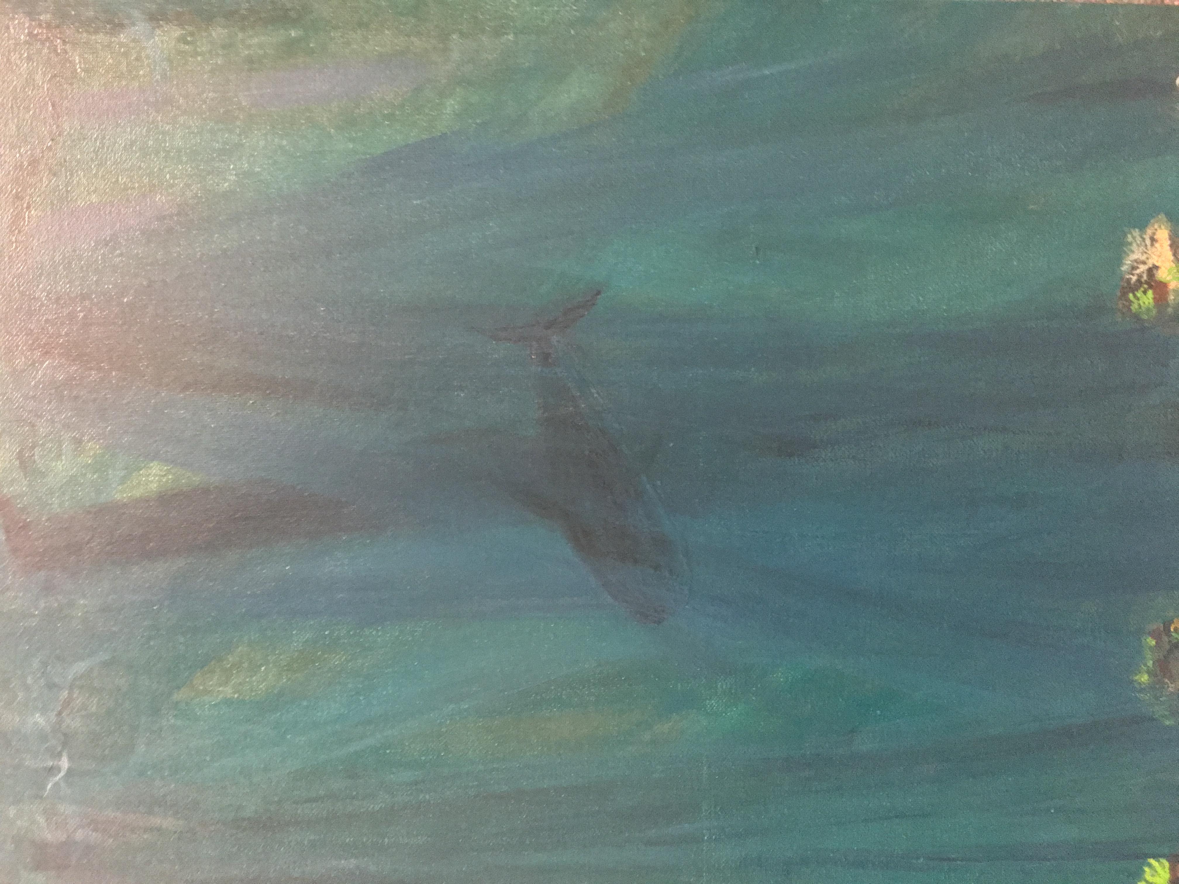 Underwater painting- shark