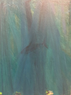 Underwater painting- shark