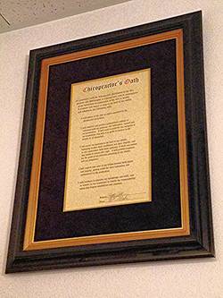 Doctor's of Chiropractic Oath