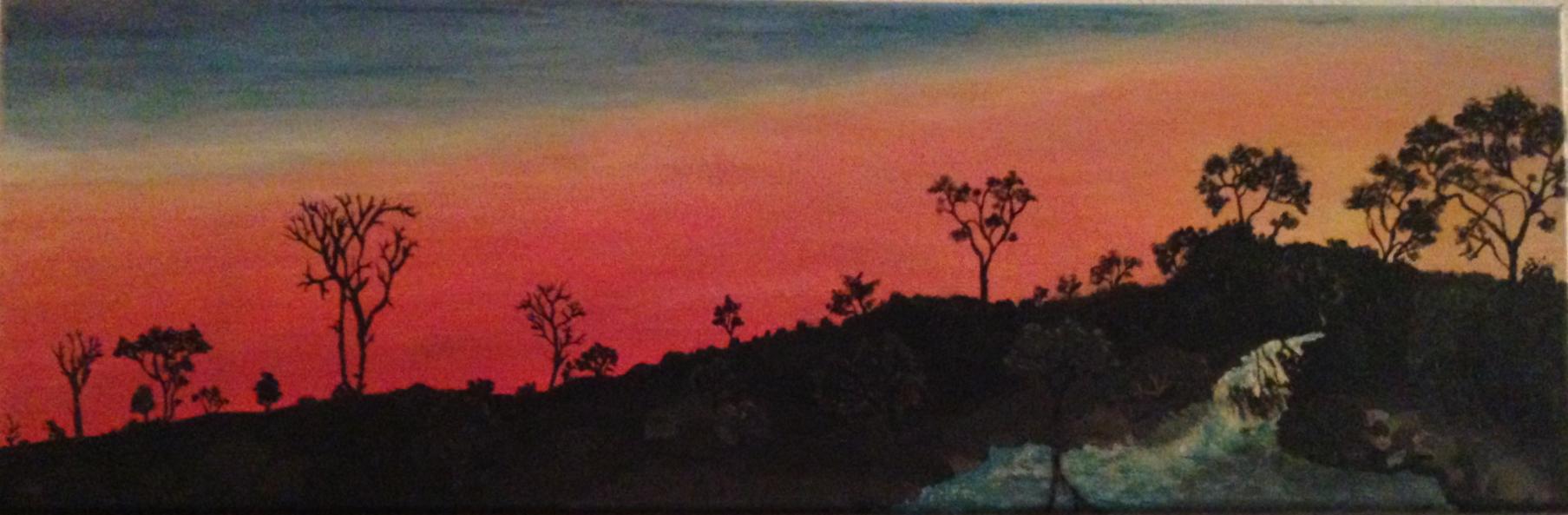Africa Setting sun