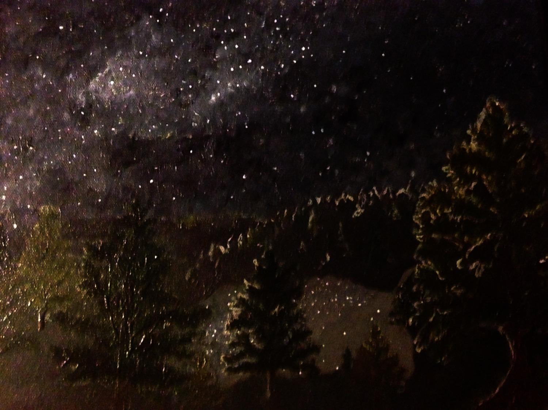 Milky way night's sky
