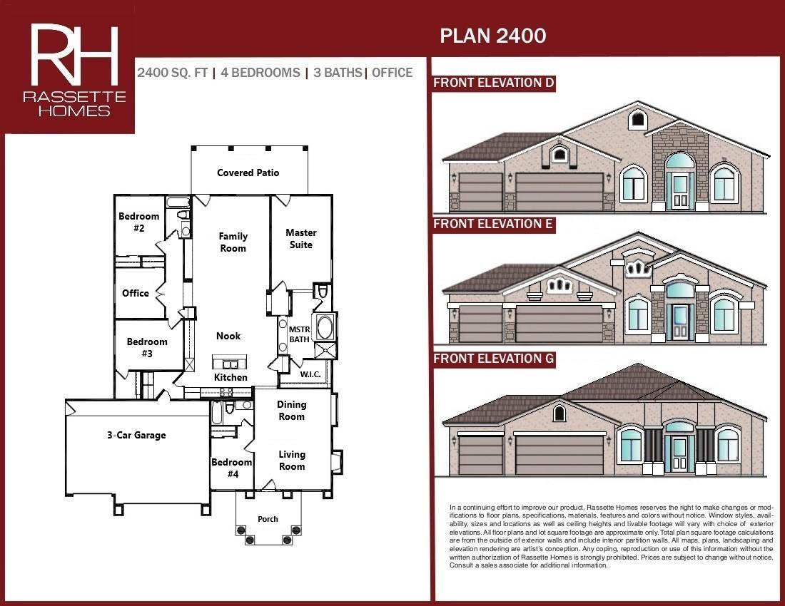 New Home Floor Plan - 2400