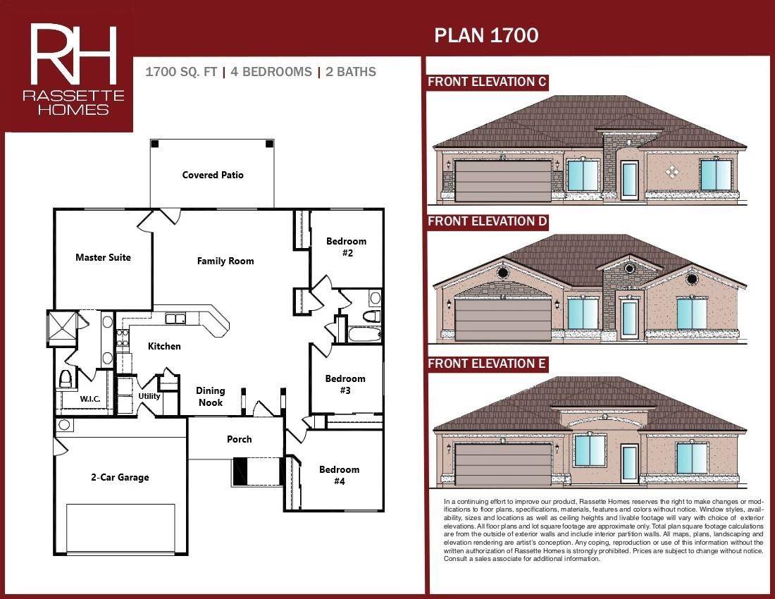 New home floor plan 1700