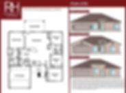New Home Floorplan 1700 square feet 4 bedrooms 2 bathrooms