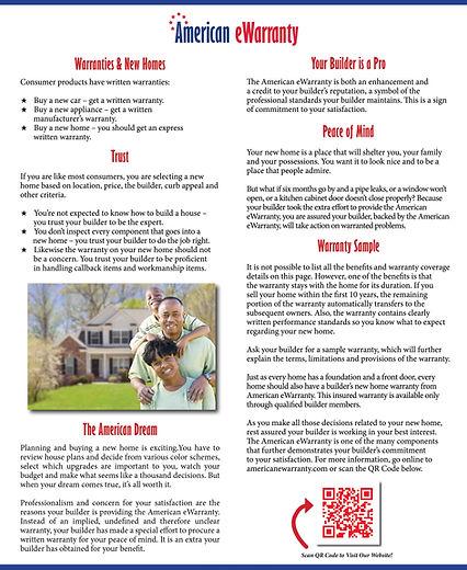 Rassette Homes new home extended warranty