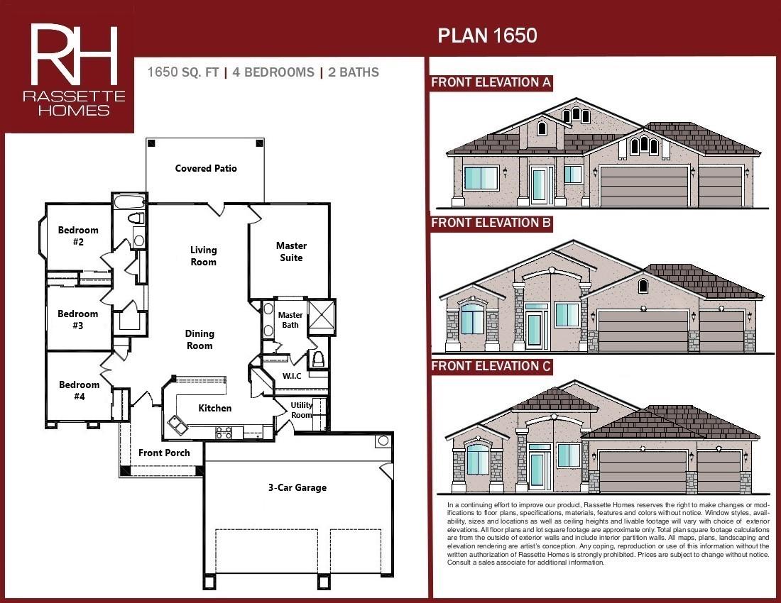 New Home Floor Plan -1650