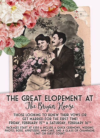 The Great Elopement // The Bryan House Wedding Venue, Bed & Breakfast, and Photography Location