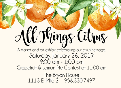 All Things Citrus Card // The Bryan House Wedding Venue, Bed & Breakfast, and Photography Location