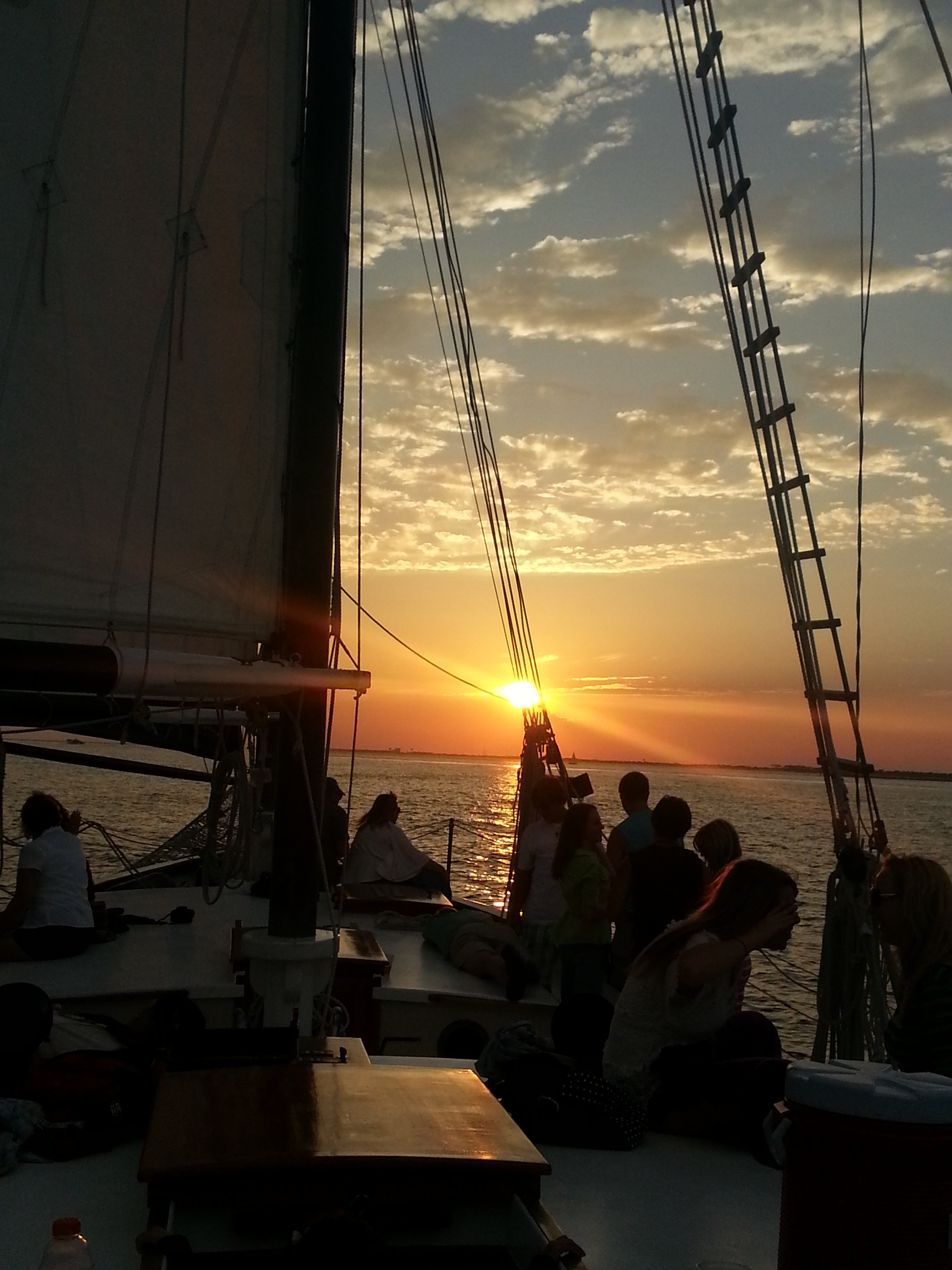Destin Fl sunset sailing trip