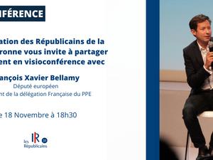 François-Xavier Bellamy en visioconférence !