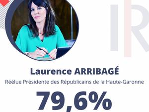 Laurence ARRIBAGÉ réélue Présidente de la Fédération.