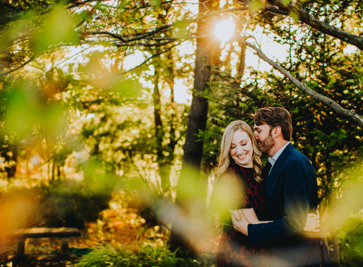 Kaitlin + Ben | Fall Inspired Engagement Session | Cylburn Arboretum Baltimore, Maryland