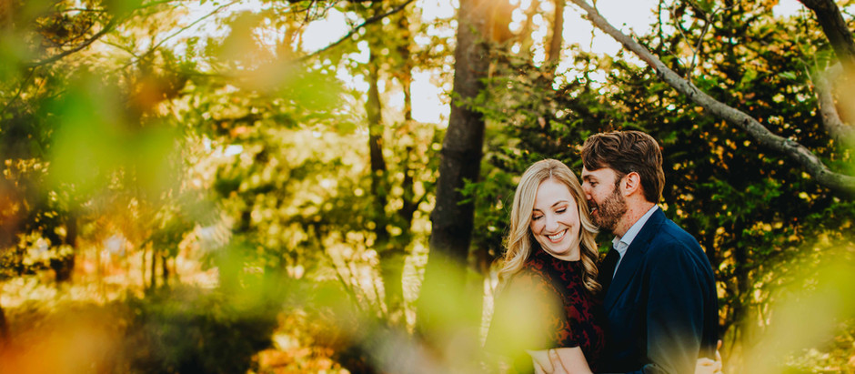 Kaitlin + Ben   Fall Inspired Engagement Session   Cylburn Arboretum Baltimore, Maryland