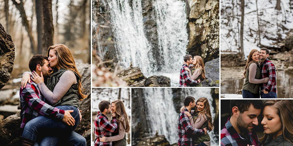 Kilgore Falls Maryland Engagement Photography