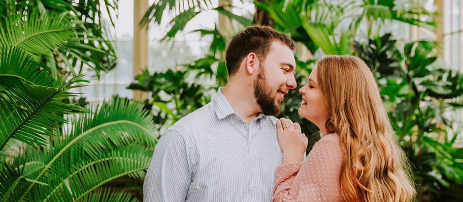 Emily + Collin's Rawlings Conservatory Engagement