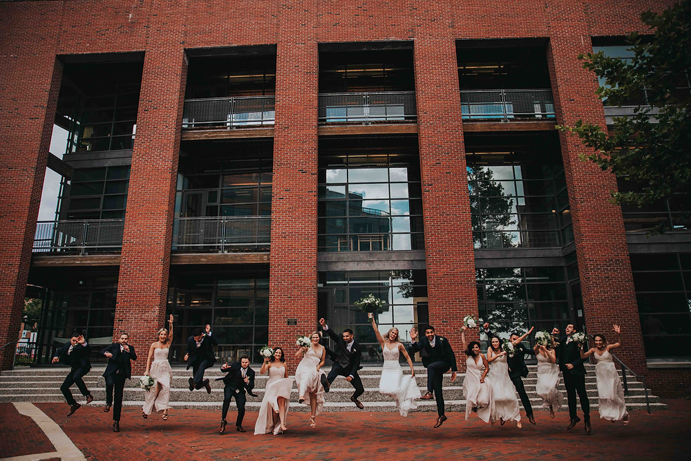 fun and vibrant Baltimore wedding photographer at fells point Maryland