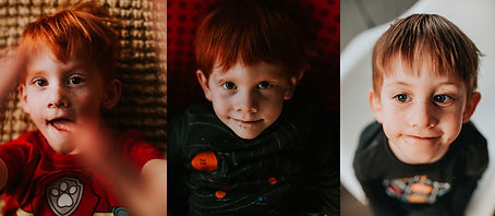 Portraits of three little boys at Baltimore Maryland