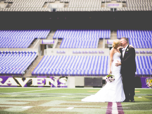 Ernie + Lisa  M & T Bank Stadium   Ravens Wedding
