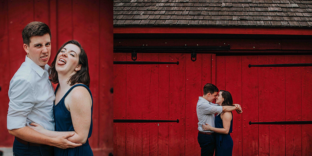 Couple making funny faces at Baltimore Area Photographer