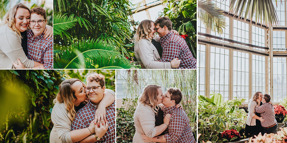 Rawlings Conservatory Engagement Photography