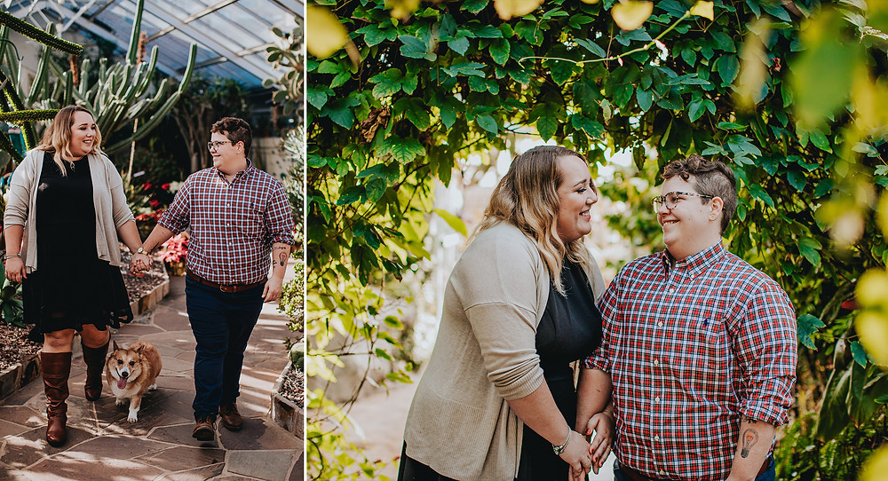 Rawlings Conservatory Baltimore Engagement Photography