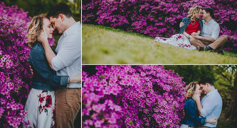 Sherwood Gardens Engagement Photography