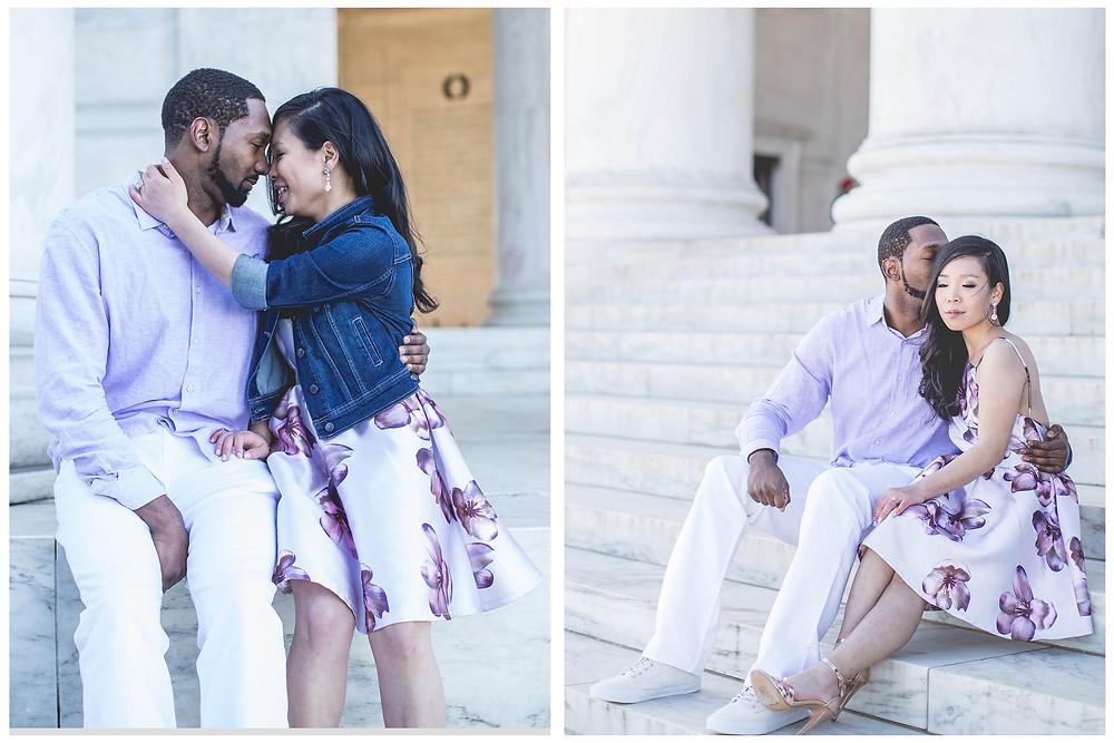 Washington DC Wedding Photographer| Engagements| Jefferson Memorial Engagement Photography