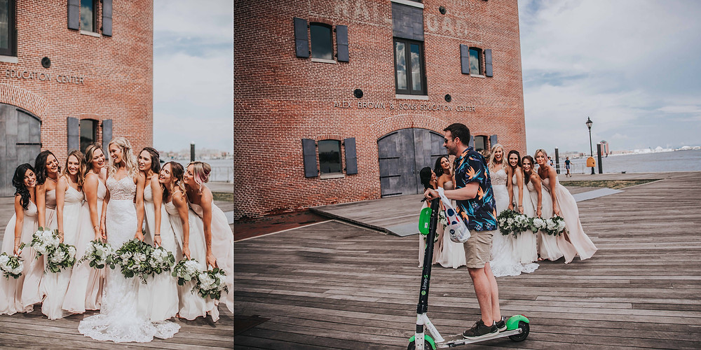 man on scooter riding through photo by Baltimore wedding photographer