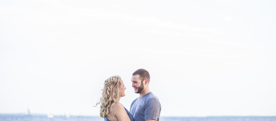 Corine + Cody| Concord Lighthouse Engagement Session