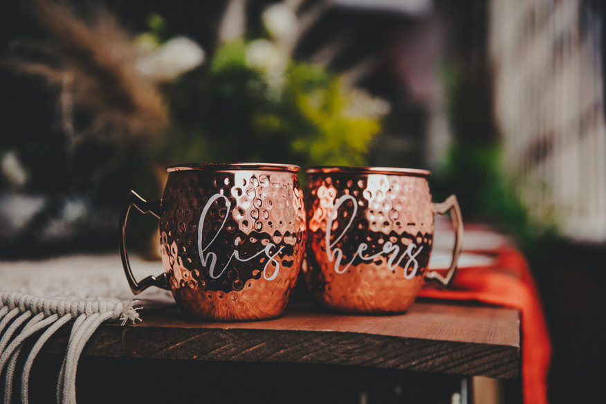 Copper Mugs for Wedding at Baltimore Maryland