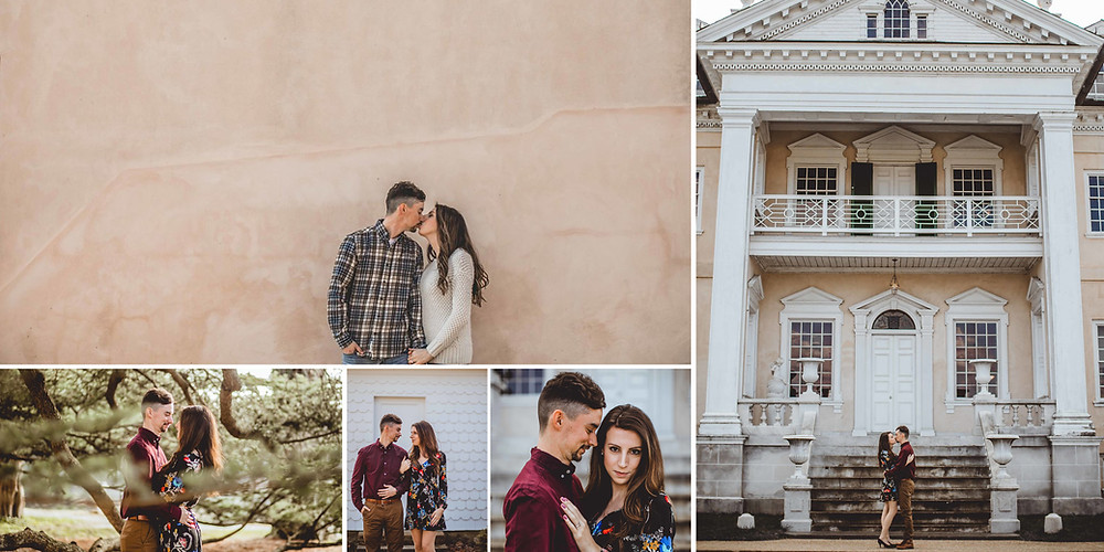 Hampton Mansion Maryland Engagement Photography