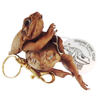 LB TOAD KEYRING WITH SWIVEL