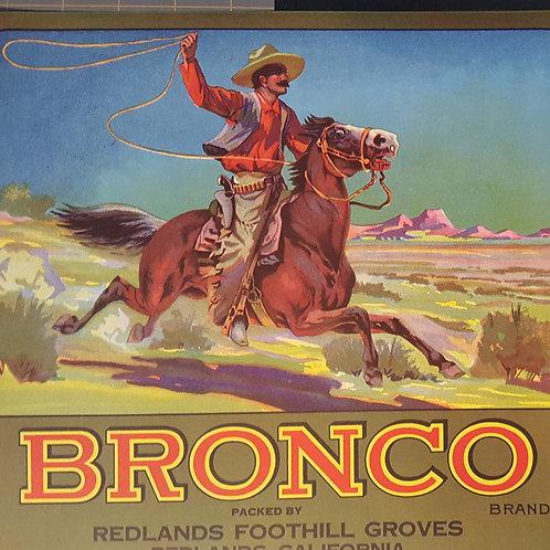 Bronco Brand Original Fruit Crate Label