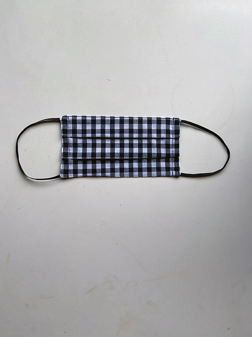 GINGHAM CHECK FACE MASK