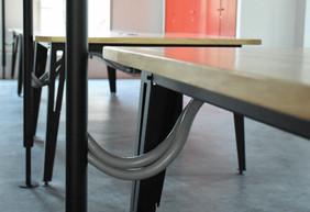 Detalle redes y electricidad a mesas desde parantes