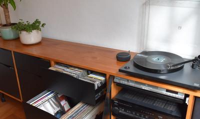 Mueble música, vinilos, CDs y equipos