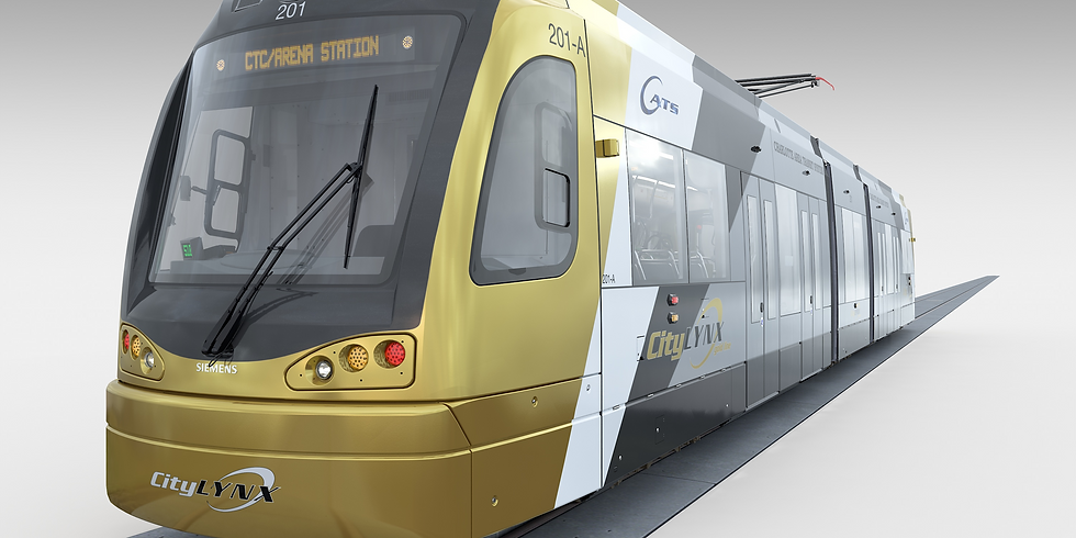 REVIEWING THE NEW SIEMENS S70 STREET CAR WITH CATS UNCC DIVISION LIGHT RAIL SYSTEM