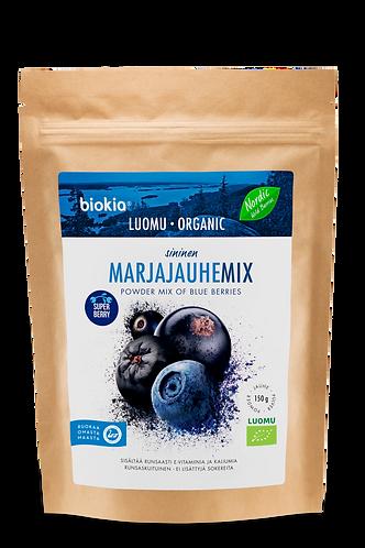 Baies bleus sauvages bio en poudre/Cassis, myrtille, aronia/Blue berries