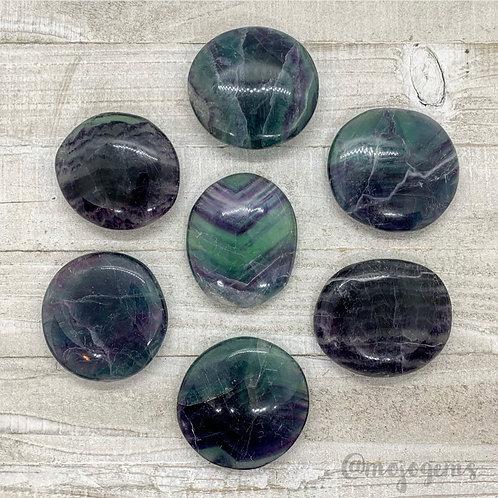 Rainbow Fluorite Palm Stone, Medium
