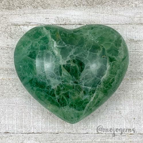 Green Fluorite Heart, Large