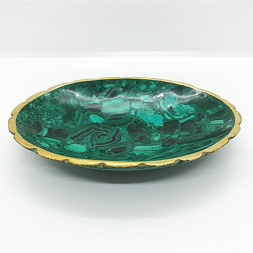 Malachite Bowl, Large Oval