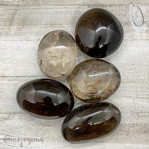Smoky Quartz Palm Stone, Medium