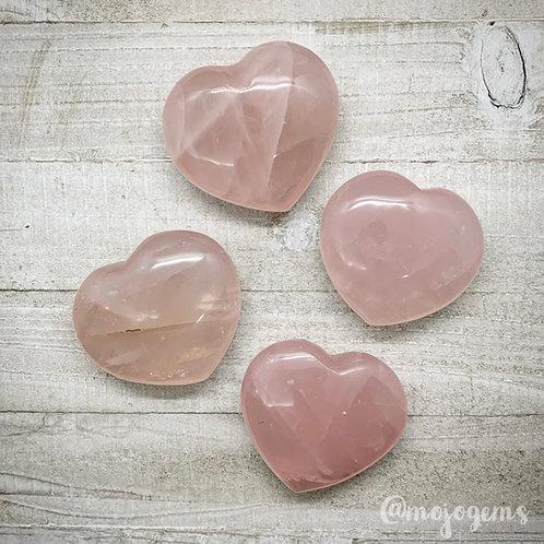 Rose Quartz Heart, Medium