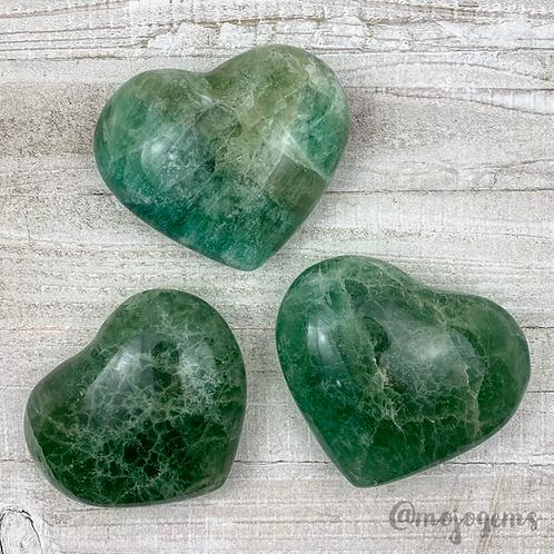 Green Fluorite Heart, Medium