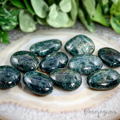 Green Apatite Palm Stone, Small