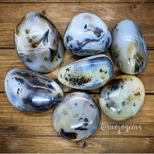 Dendritic Agate Palm Stone, Medium