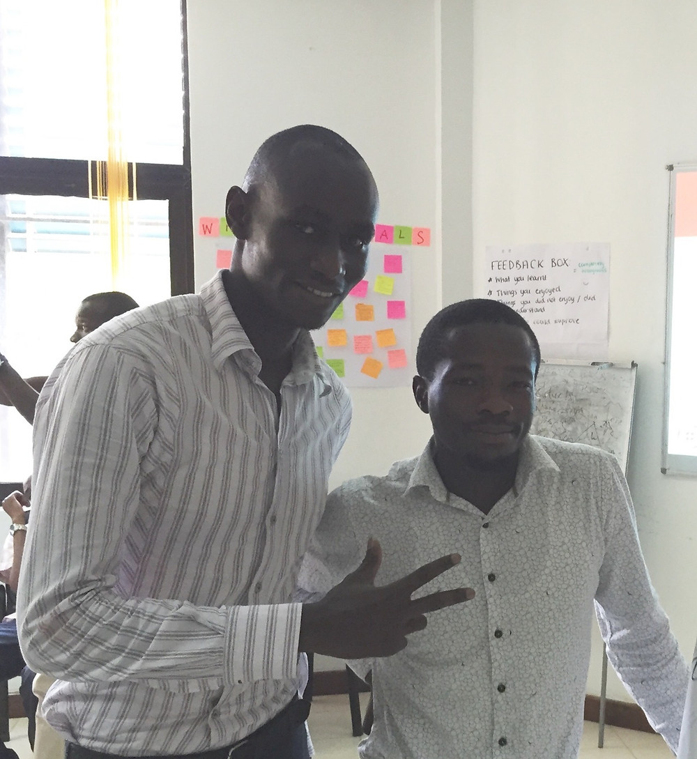 Clifford (left) and James (right), co-founder of Chemolex